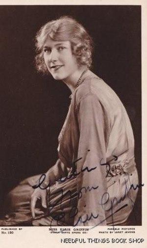 Elsie Griffin - Postcard autographed by Elsie Griffin, c. 1921