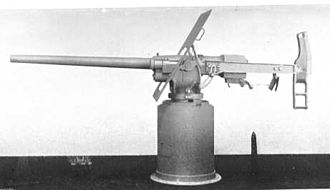 QF 6-pounder Hotchkiss - Early Elswick gun on recoil mounting