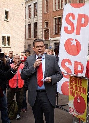 Lijsttrekker - Socialist Party lijsttrekker Emile Roemer in 2010