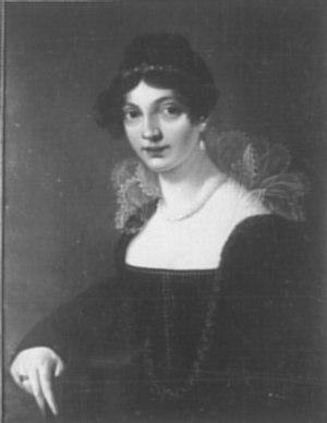 Emma Körner - Self portrait by Emma Körner, 1813. (Formerly in the Körner-Museum, Dresden. Destroyed 1945)