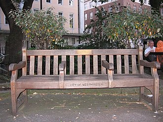 Kirsty MacColl - Image: Empty bench in Soho Square