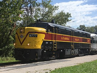 Railroad excursion running from Independence OH to Akron OH