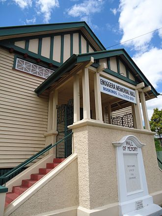 Enoggera, Queensland - Entrance to Enoggera Memorial Hall, 2011
