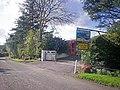 Entrance to Pendeilo Caravan Site with Red Phonebox, Llanteg - geograph.org.uk - 1015510.jpg