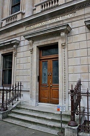 Fellow of the Royal Astronomical Society - Entrance to the Royal Astronomical Society headquarters