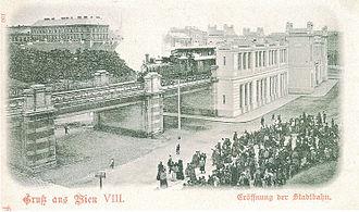 Wiener Stadtbahn - Opening of the Wiener Stadtbahn (postcard 1898)