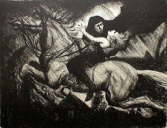 Erlkönig (Goethe) - The Erlking by Albert Sterner, ca. 1910
