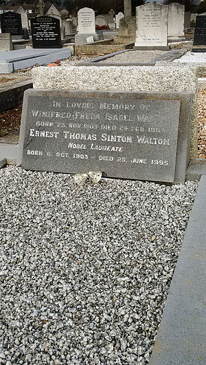 Ernest Walton - Ernest Walton's Grave in Deansgrange Cemetery, south County Dublin