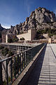 Escolania and the Basilica from the restaurant - Montserrat 2014 (3).jpg