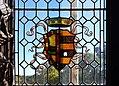 Escut dels Borja a una finestra del saló de Corones, palau ducal de Gandia.jpg