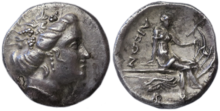 Silver tetrobol from Euboia, Histaia