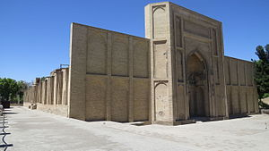 Jameh Mosque of Varamin - Image: Exterior view of Varamin Masjed jome