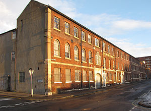 Taylor's Eye Witness Works - Seen from the junction of Milton Street and Headford Street.