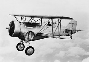 Aerial engagements of the Second Sino-Japanese War - Curtiss F11C Goshawk (Hawk II) in a test flight, 1932
