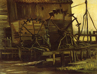 <i>Water Mill at Gennep</i> painting series by Vincent van Gogh