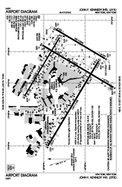 Jfk Airport Map File:FAA JFK Airport map 2016.pdf   Wikimedia Commons Jfk Airport Map