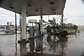 FEMA - 37208 - Branches blocking the lanes in a filling station in Texas.jpg