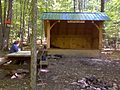 FLT B1 Mile 2.1 - 0.1 blue trl - Beaver Pond Lean-to, 8.5'x13', with picnic table, fire ring, privy, reliable stream, built 2011 - panoramio.jpg