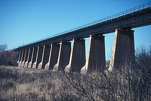 National Register of Historic Places listings in De Baca County, New Mexico - Image: FORT SUMNER RAILROAD BRIDGE