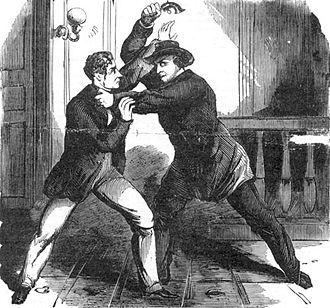 Frederick W. Seward - Lewis Powell attacking Seward after already attempting to shoot him.