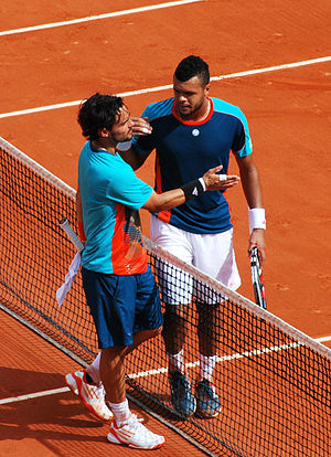 Fabio Fognini - Fognini and Jo-Wilfried Tsonga in 2012 French Open