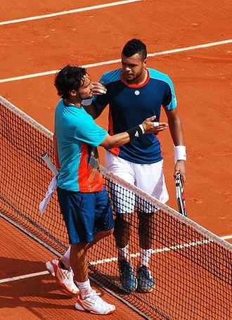 Fabio Fognini - Fognini and Jo-Wilfried Tsonga in 2012 French Open