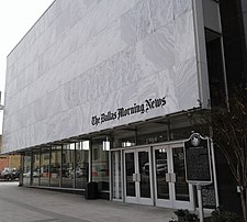 Facade of Dallas Morning News office in Dallas.jpg
