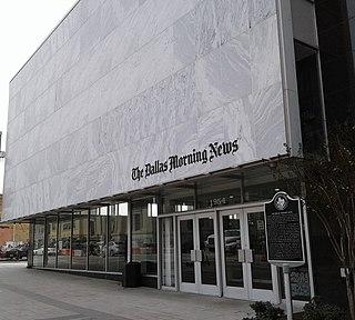 <i>The Dallas Morning News</i> daily newspaper serving Dallas, Texas, USA
