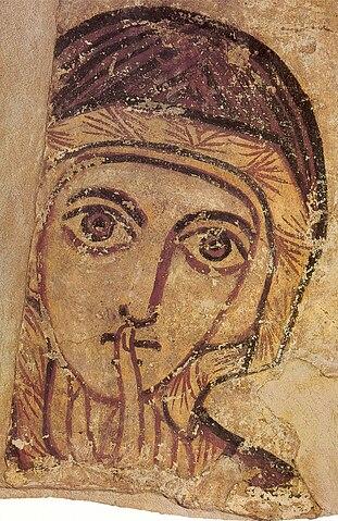 Св. Анна. Фреска из Фарраса, VIII век