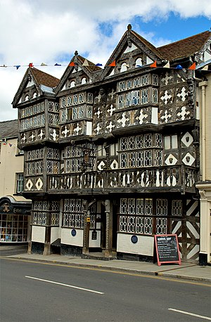 Ludlow - The Feathers Hotel, one of Ludlow's more famous timber-framed buildings.