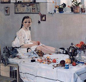 Nicolai Fechin - Portrait of Varya Adoratskaya (1914), State Art Museum of Tatarstan, Kazan