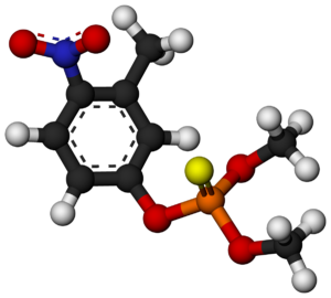 Fenitrothion - Image: Fenitrothion Molecule 3D balls by AHRLS 2013
