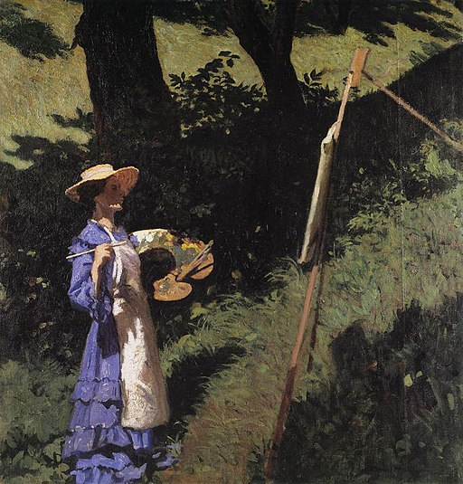 Ferenczy, Károly - The Woman Painter (1903)