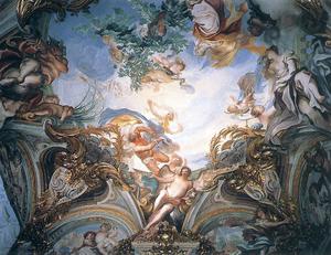 Gregorio De Ferrari - Summer, Fresco, 1680s.