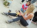 Festival of the Winds, XXXVI - Girl with banana skin - Bondi Beach, 2013.jpg