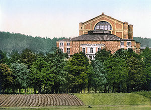Richard Wagner - The Bayreuth Festspielhaus: photochrom print of c. 1895