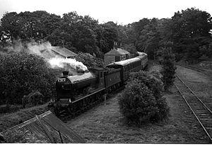 "Fife Coast Railway - Glen Class D 30 ""Glen Douglas"" at Mount Melville with a railtour in 1960"