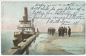 Abram S. Hewitt (fireboat) - the Fire Boat, 'Abram S. Hewitt', during the 1905 Terminal Fire.