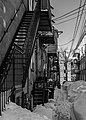 Fire escapes in Canada in Quebec city, Canada 01.jpg