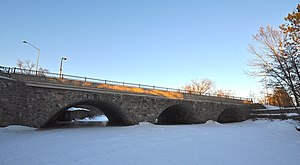 National Register of Historic Places listings in Lincoln County, Wisconsin - Image: First Street Bridge, Merrill, Wisconsin