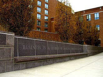 Max M. Fisher College of Business - Many quotations can be found etched into Fisher's campus.