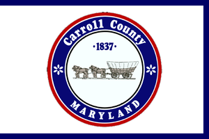 Baltimore County, Maryland - Image: Flag of Carroll County, Maryland