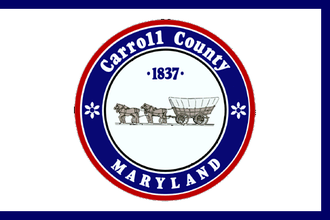 Carroll County, Maryland - Image: Flag of Carroll County, Maryland