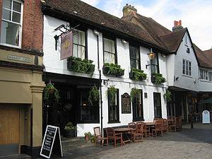 Fleur de Lys, St Albans - Note the Fleur de Lys pub sign in this photo from 2004.
