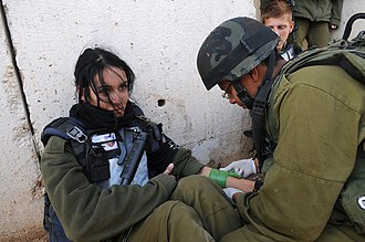 Medical Corps (Israel) - A soldier receives medical aid