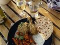 Flickr - cyclonebill - Chicken Masala med gulerødder, chapati og raita.jpg