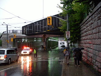 Dufferin Street - The Dufferin Street underpass at Queen was flooded on July 8, 2013