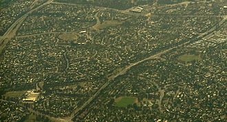 Florey, Australian Capital Territory - Aerial view of Florey, from the south west.