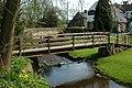 Footbridge in the pub garden - geograph.org.uk - 765301.jpg