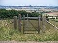 Footpath meets road - geograph.org.uk - 1986494.jpg